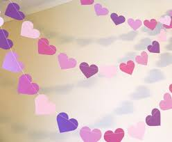 Bridal Shower Decor by Purple Bridal Shower Decor Purple Heart Garland Wedding
