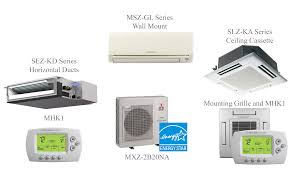 ductless mini split cassette mxz 2c20na split air conditioning and heating 20k btu 2 indoor