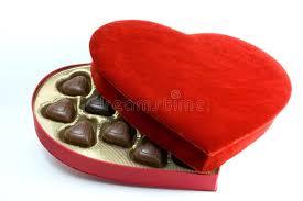 heart box of chocolates heart box with chocolates stock photo image of 1734144