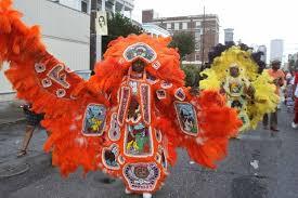 orange mardi gras mardi gras indians masks and feathers violence to peace lazer