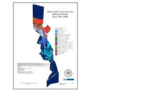Louisiana Map Of Parishes by Land Cover Regional Planning Commission