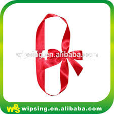 decorative ribbon pre satin ribbon bow with elastic loop pre satin ribbon