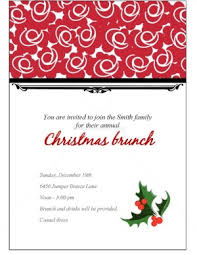 christmas lunch invitation christmas brunch invitation template for christmas