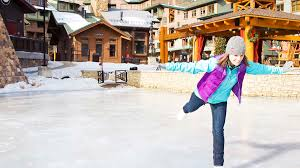 skating at the base of winter park resort