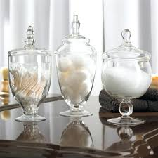 Glass Bathroom Storage Jars Bathroom Apothecary Jars For Glass Bathroom Containers