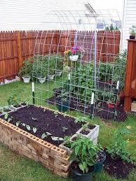 Garden With Trellis Diy Raised Garden Box With Trellis Beesdiy Com