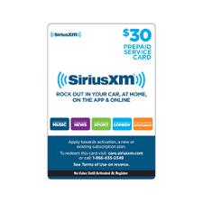prepaid cards prepaid cards shop siriusxm
