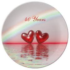 40th anniversary plates 40th wedding anniversary gifts on zazzle
