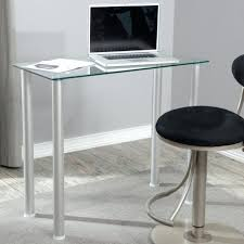 Computer Glass Desks For Home Office Design Glass Top Small Office Desk Placed In Simple Home
