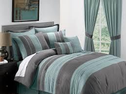 king size bed reversible blue grey quilt stripped comforter sets
