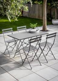 Steel Patio Furniture Sets by Rive Droite Rectangular Bistro Set In Charcoal Steel Garden