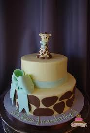 giraffe baby shower cake tiered cake archives jcakes