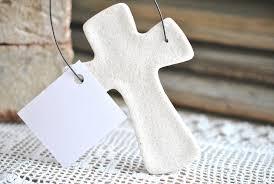Baptism Ornament Favors Colorful Salt Dough Cross Ornament Baptism Favors Christening