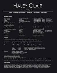 Acting Resume Sample Beginner Singer Resume Resume Cv Cover Letter