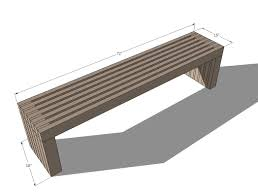 Build Outdoor Wood Furniture by Ana White Modern Slat Top Outdoor Wood Bench Diy Projects