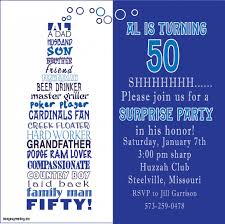 invitations for a 50th birthday party celebrating 50th birthday