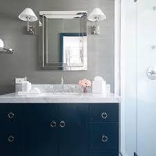 brilliant knox bathroom blue vanity white subway tile for shower