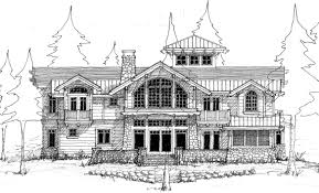home design sketch free house sketch plan waterfront home lake elevation1 draw floorplan