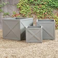 Concrete Planter Boxes by Napa Home And Garden Planters You U0027ll Love Wayfair