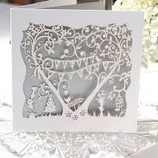 Silver Anniversary Invitation Cards Silver Wedding Anniversary Card Laser Cut Card By The Hummingbird