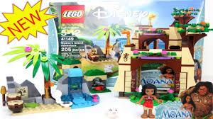 lego disney moana u0027s island adventure set 41149 time lapse review