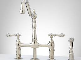 faucet bellevue bridge kitchen faucet with brass sprayer lever