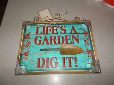wooden garden home décor hanging signs ebay