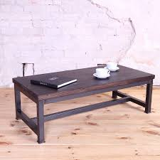 Industrial Style Coffee Table Sleek Steel Industrial Style Coffee Table Cosywood Co Uk