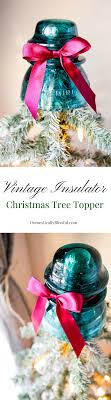 vintage insulator tree topper