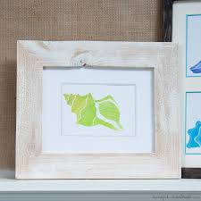 Picture Frames And Mats by Diy Custom Photo Mats And Printable Watercolor Seashells A