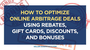 buy discounted gift cards online how to optimize online arbitrage deals using rebates gift cards