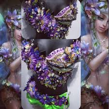 forest fairy bra rave wear nymph pixie rave edm