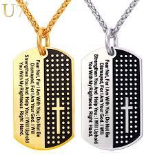 wholesale cross necklace pendants images U7 dog tag cross necklaces pendant gold color stainless steel jpg