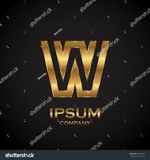 letter w metallic texture3d glossy metal stock vector 586864349