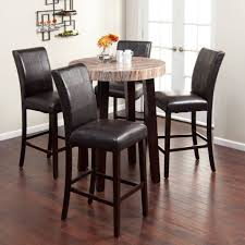 Leather Chairs For Kitchen Table Kitchen Gorgeous Dark Brown Kitchen Table And Chairs Set Ideas