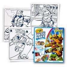 crayola color refill coloring book teenage mutant ninja