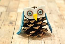 kid friendly felt and pinecone owl ornaments factory direct