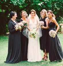 black bridesmaid dresses bridesmaids in black or just