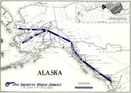 Alaska Airlines Destinations Map by Forever Young Clipper Crew