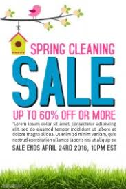 customizable design templates for spring cleaning flyer postermywall