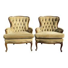 Tufted Accent Chair Vintage Provincial Style Corduroy Tufted Accent Chairs