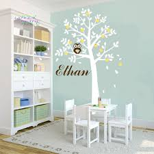 Removable Nursery Wall Decals White Tree Owl Wall Stickers Xlarge Size Decor Vinyl Decal