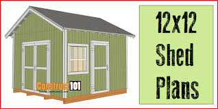 12x12 shed plans gable shed pdf download construct101