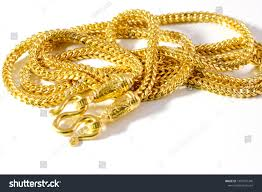 luxury gold necklace images Gold necklace on white background thailand gold stock photo edit jpg