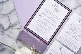 wedding invitations glitter katherine foil and glitter wedding invitation all that
