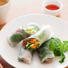 rice paper wrap beef and vegetable rice paper rolls healthy recipe weight