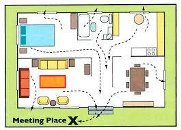 Evacuation Floor Plan Template Home Evacuation Plan Home Evacuation Plan Template Family