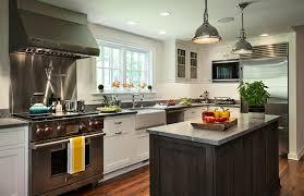 Black Granite Countertop Design Ideas - Stainless steel cooktop backsplash