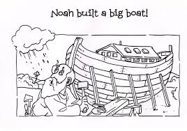 noah and the ark coloring page glum me