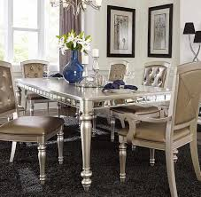 Cottage Dining Room Sets From Pulaski Couture Silver Dining Room Sets Silver Round Pedestal
